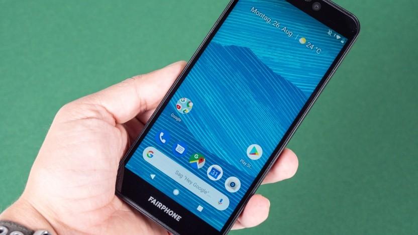 Das Fairphone 3, hier allerdings mit Google-Android
