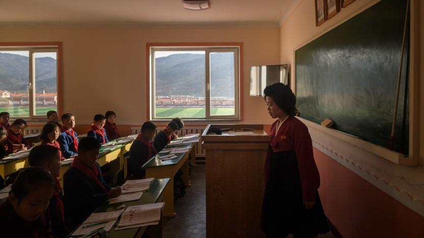 Bildung gehört in Nordkorea zu den wichtigsten Tugenden. Wegen der Coronapandemie sind auch dort die Schulen im Moment zu.