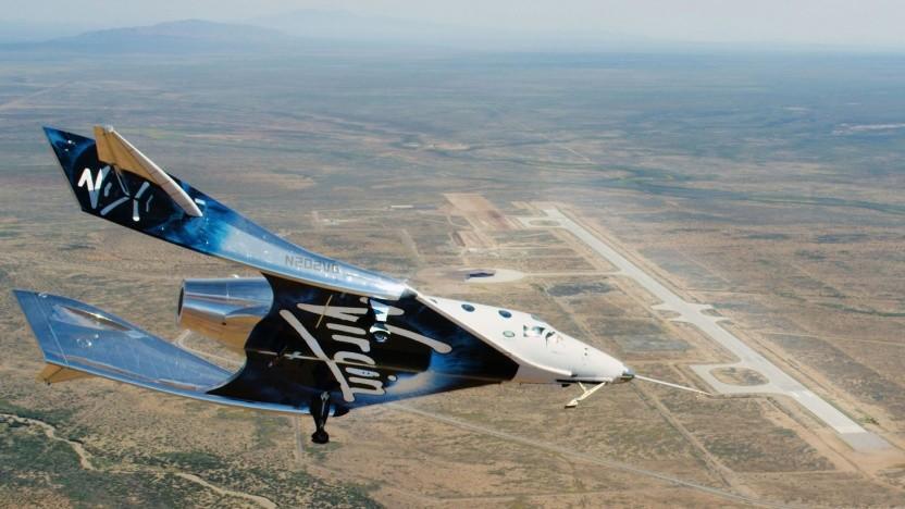 VSS Unity im Anflug auf den Spaceport America: Umzug nach New Mexico abgeschlossen
