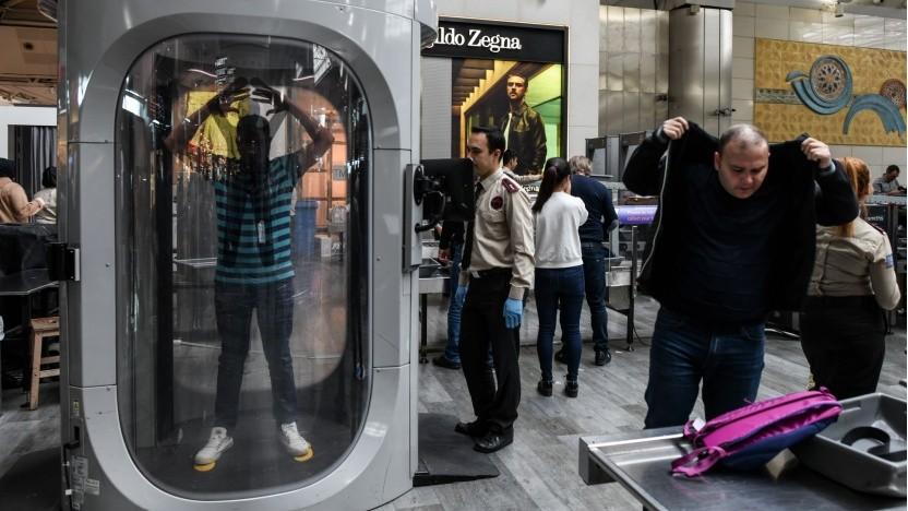 Sicherheitskontrolle am Flughafen: Tests der Sensoren sind für 2020 geplant.