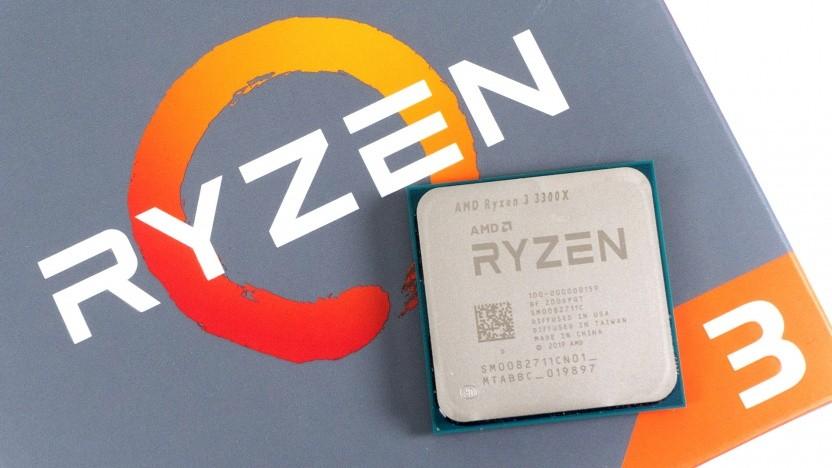 Ryzen 3 3300X auf einer Ryzen-3-Packung