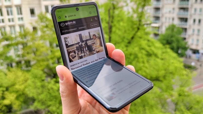 Stufenlos aufklappbar: das Samsung Galaxy Z Flip (Video)