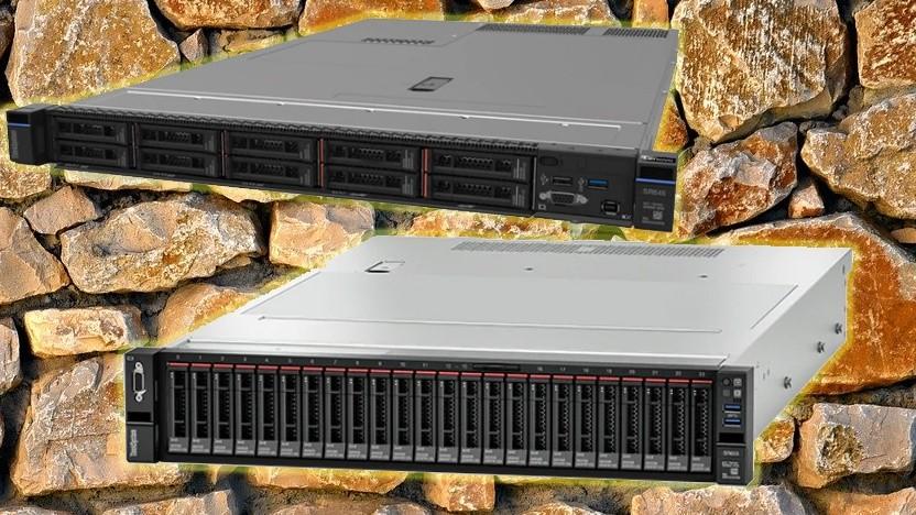 Der SR645 (o.) und der SR665 (u.) nutzen AMD Epyc.