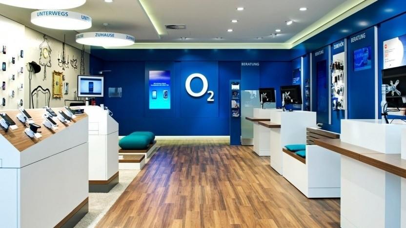 Blick in einen O2-Shop