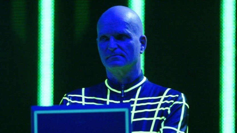 Florian Schneider, bei einem Auftritt mit Kraftwerk im Jahr 2003 (1947 - 2020)