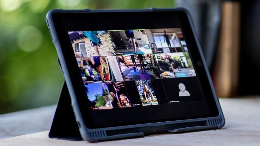 Zoom auf einem Tablet