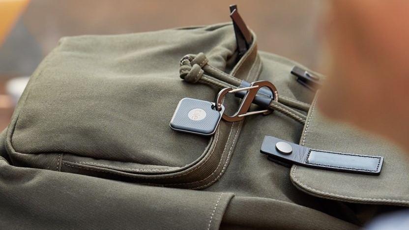 Mit Tile gesicherte Tasche: Verloren gegangene Gegenstände können von anderen Tiles geortet werden.