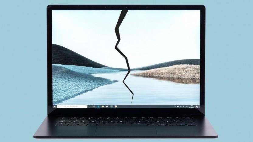 Der Surface Laptop 3 hat in seltenen Fällen Displayrisse.