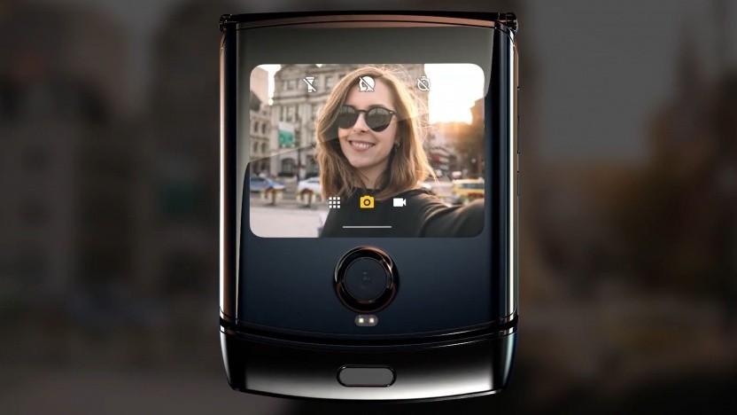 Der Selbstporträtmodus des Motorola Razr
