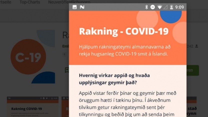 Die isländische Corona-App hat einen sehr hohen Verbreitungsgrad.