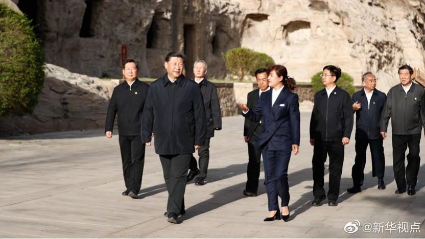 Heimlicher Herrscher von Huawei? Der chinesische Staatspräsident Xi Jinping in der Provinz Shanxi
