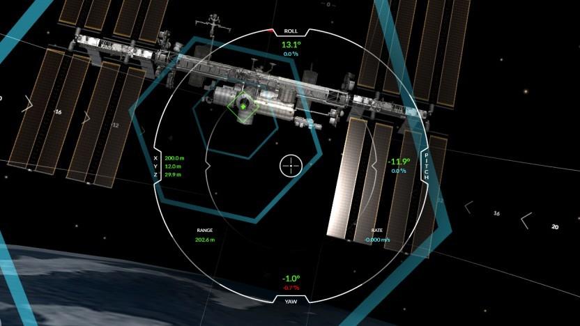 Jeder kann im Browser das Andocken an die ISS üben.
