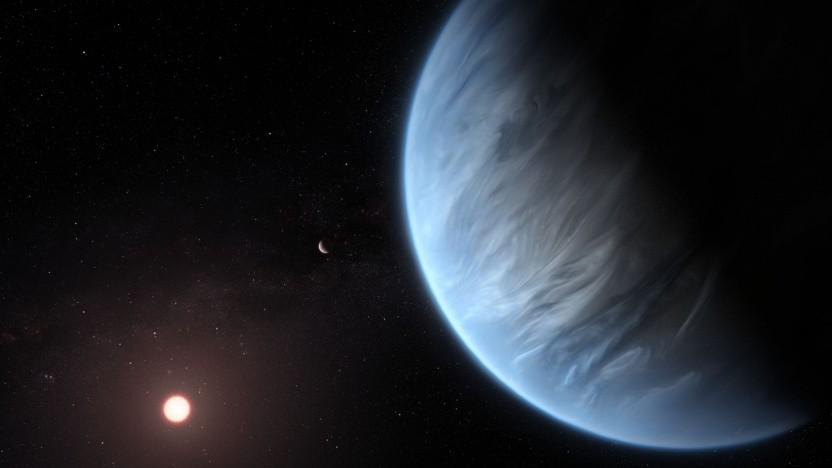 Künstlerische Darstellung eines Exoplaneten (Symbolbild): Supererde umkreist Zwergstern in 617 Tagen.