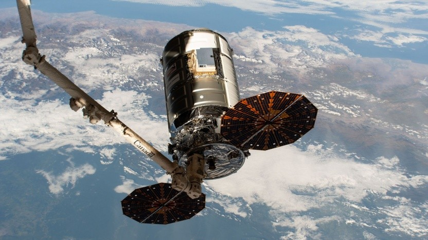 Raumfrachter Cygnus beim Abdocken am 11. Mai 2020