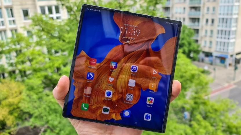 Das aufgeklappte Mate Xs von Huawei (Video)