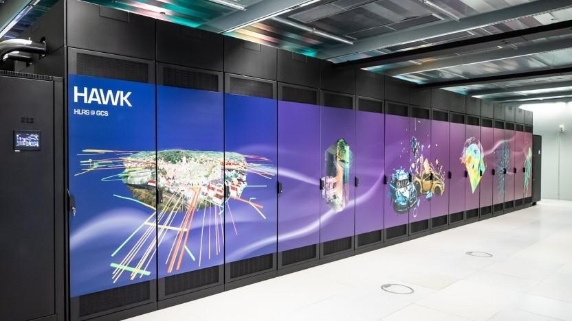 Der Supercomputer Hawk wurde sehr schnell gehackt.
