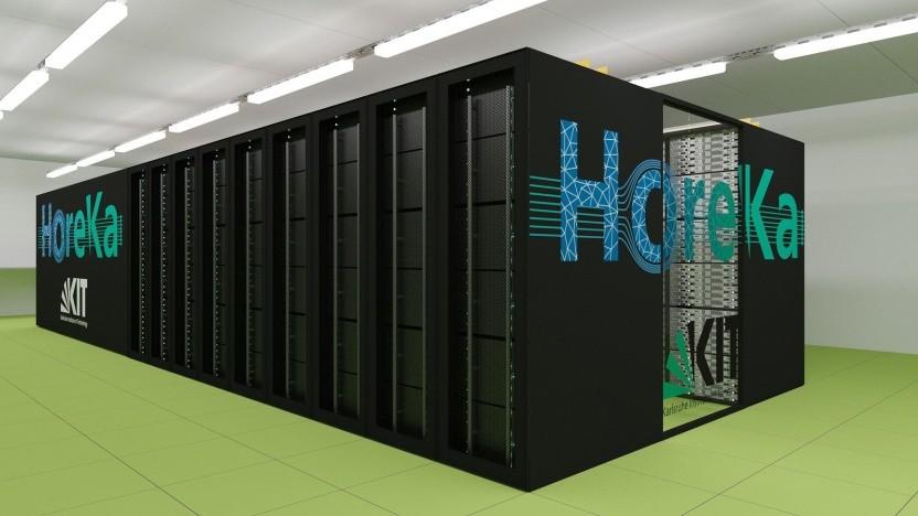 Supercomputer Horeka (künstlerische Darstellung): Die volle Leistung steht 2021 zur Verfügung.