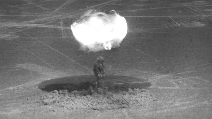 Atombombentest in Nevada: dichtere Wolken, mehr Regen