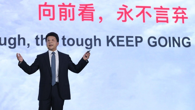 Rotating-Huawei-Chef spricht am 18. Mai in Shenzhen beim Huawei Global Analysts Summit 2020.