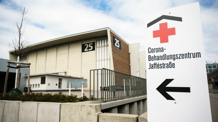 Aktuell ist auf dem Messegelände Berlin ein Notkrankenhaus für Coronafälle eingerichtet.