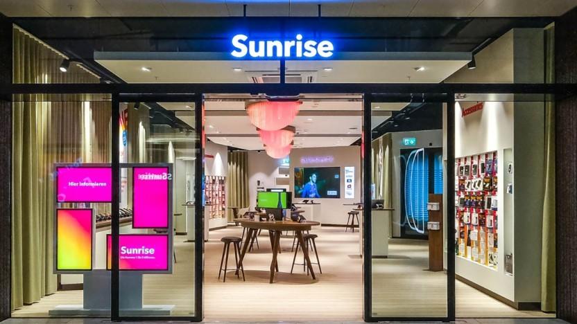 Sunrise-Shop in der Schweiz