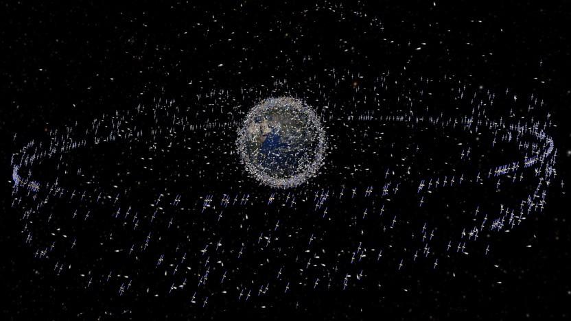 Verteilung von Objekten im Erdorbit: bis zu 70.000 Satelliten Ende der 2020er