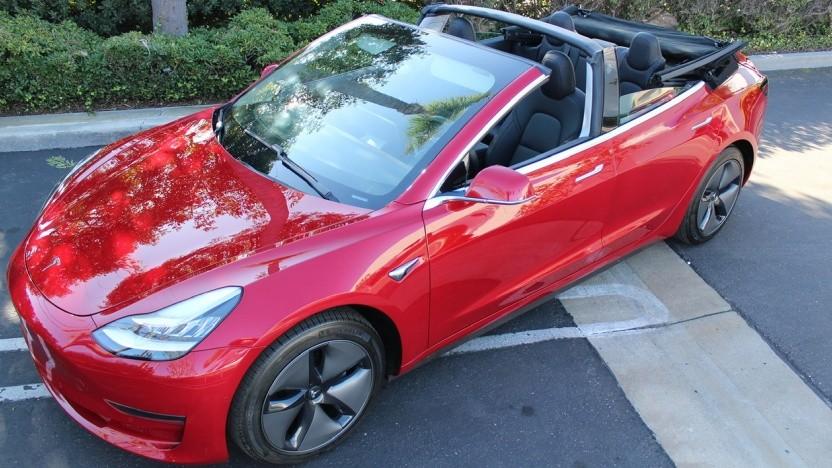 Tesla Model 3 als Cabrio