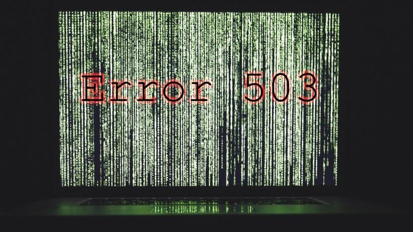 Fehler 503 kommt derzeit bei Strato öfter.