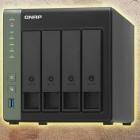 Netzwerk-Speicher: Qnap-NAS mit vier Laufwerken kann 10-Gigabit-Ethernet