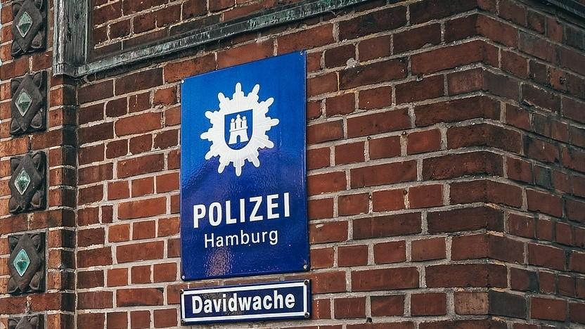 Eine Wache der Polizei Hamburg