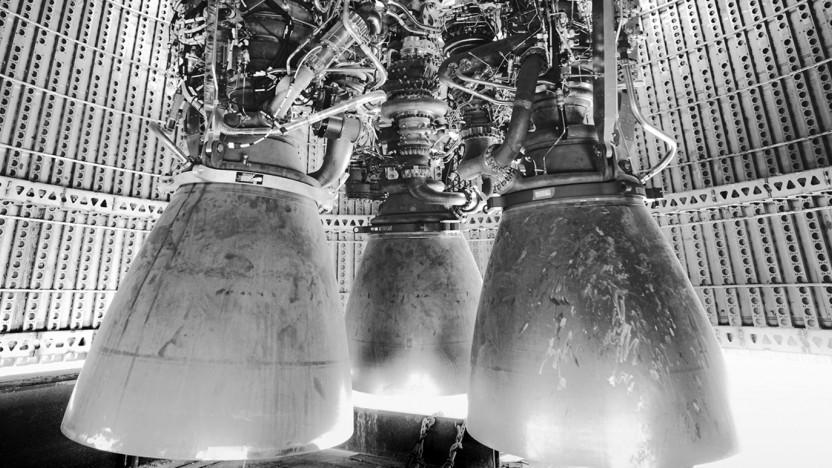 Drei Raptor-Triebwerke sorgen für den Antrieb des Starship