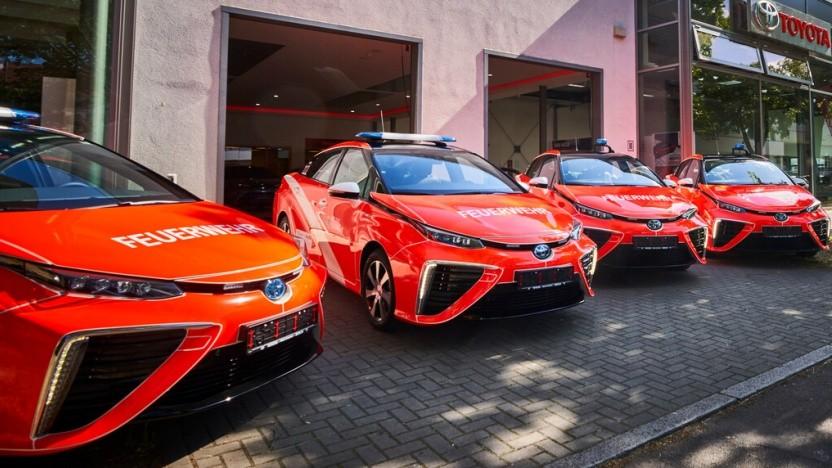 Toyota Mirai für die Berliner Feuerwehr.