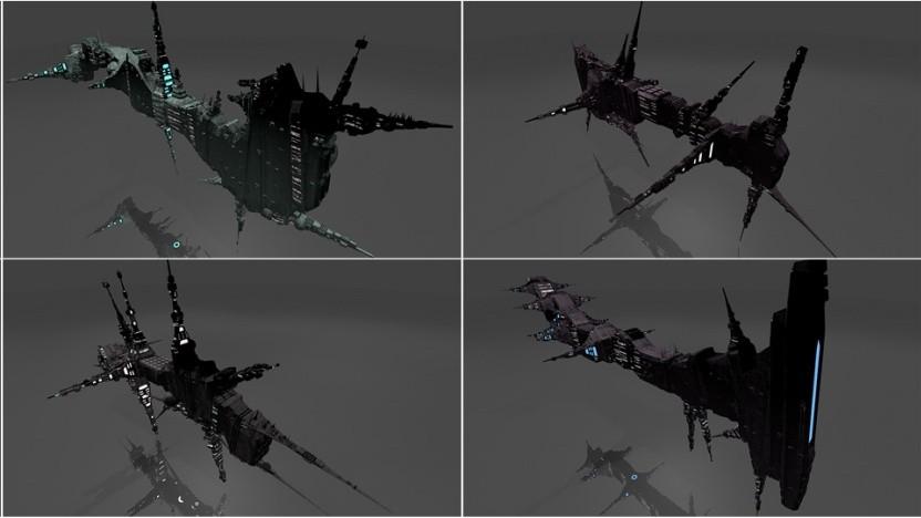 Raumschiffe können verschiedene Formen annehmen.