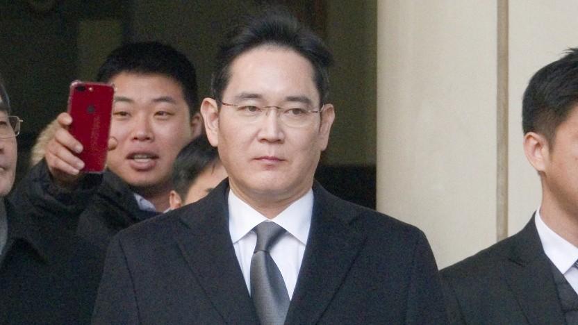 Lee Jae Yong bei einem Gerichtstermin im Januar 2020