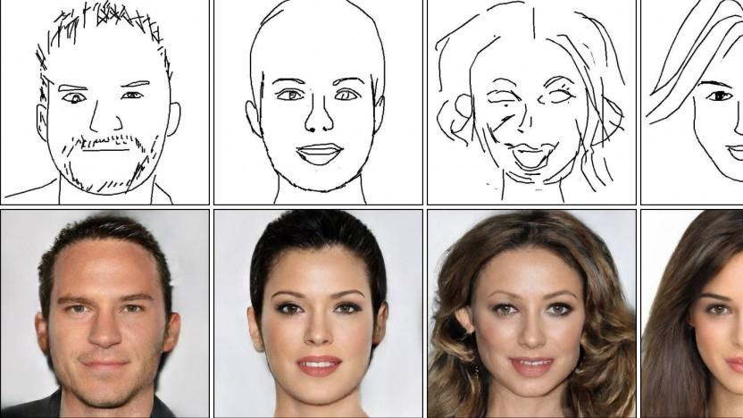 Deepfacedrawing generiert Gesichter aus Skizzen.