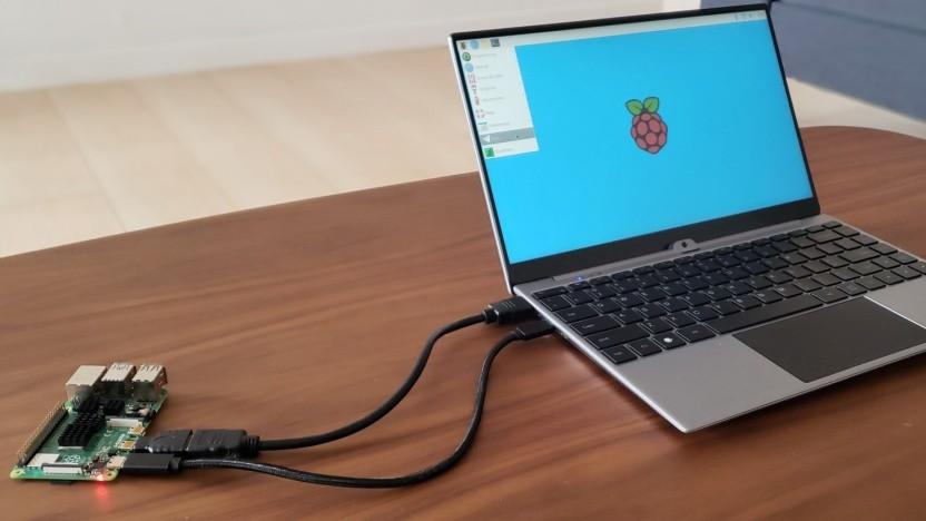 Nexdock Touch verbunden mit einem Raspberry Pi