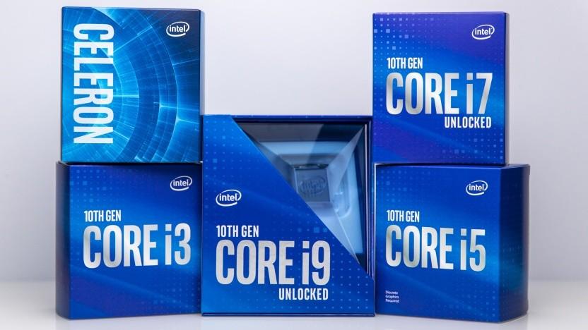 Boxed-Packungen von Intels 10th Gen