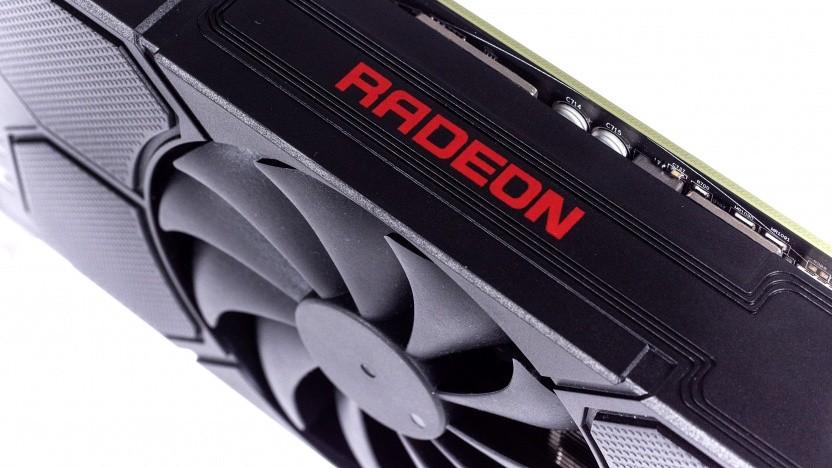 Eine Radeon RX 5500 mit Navi-14-Chip