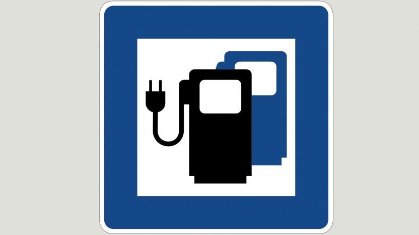 Zeichen 365-65 -  Ladestation für Elektrofahrzeuge