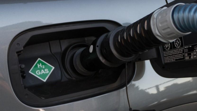 Brennstoffzellenauto an einer Wasserstofftankstelle: Deutsche Umwelttechnologie ist ein Exportschlager.
