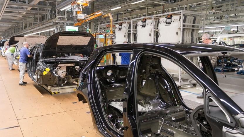 Das will Arculus abschaffen: Fließbandproduktion bei VW.