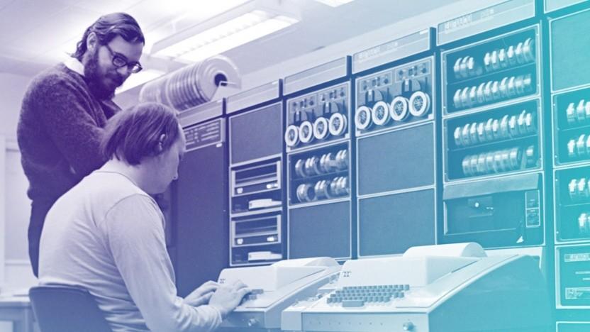 Dennis Ritchie (l.) und Ken Thompson entwickelten Unix Anfang der 1970er Jahre.