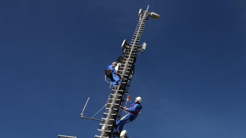 Bau von Mobilfunkanlagen von der Telekom