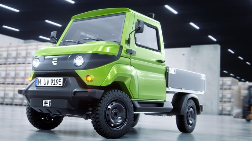 aCar: kleiner Transporter mit Allrad-Elektroantrieb