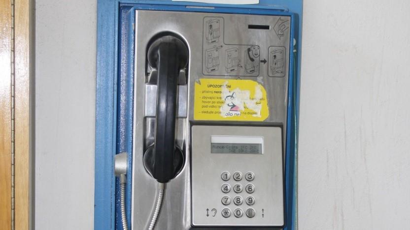 Eine Telefonzelle in Tschechien