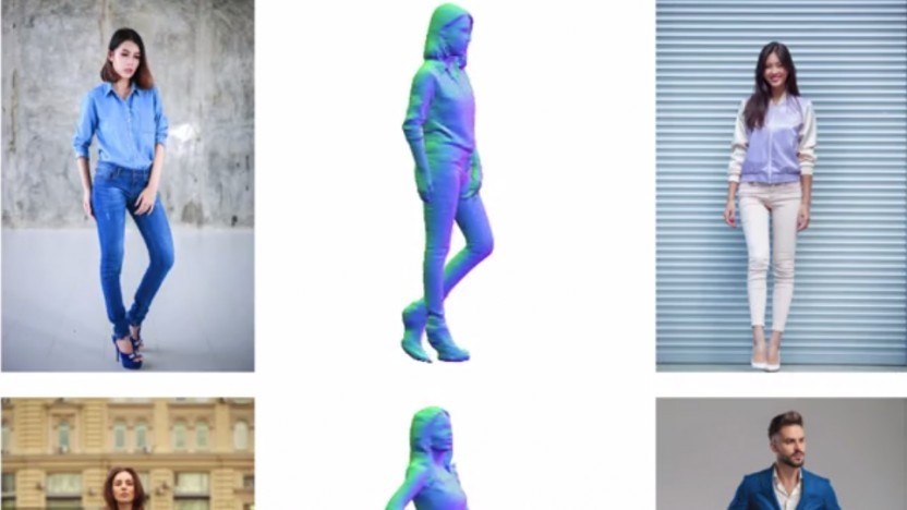Pifu generiert 3D-Modelle aus 2D-Bildern.