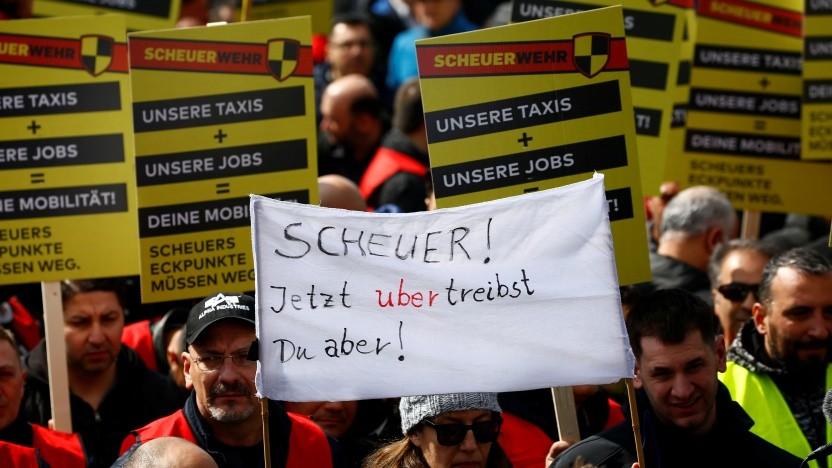 Die Taxibranche befürchtet eine Verdrängung durch Anbieter wie Uber.