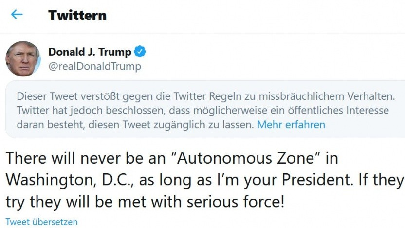 Twitter lässt erneut Muskeln spielen: Tweet von Donald Trump gesperrt
