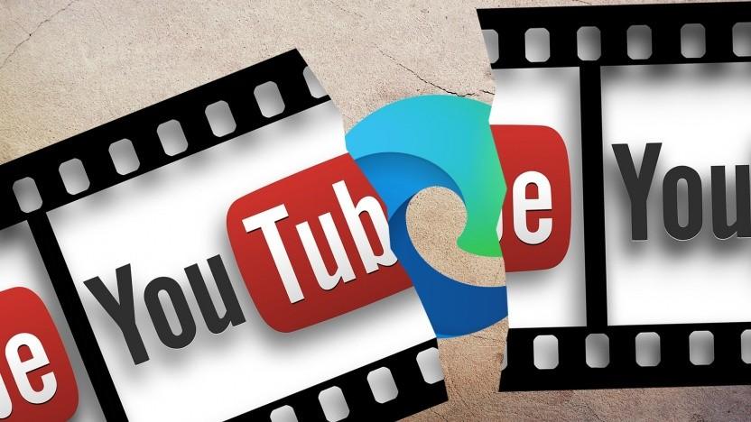 Microsoft Edge spielt Youtube-Videos bei aktiviertem Adblocker nicht richtig ab.