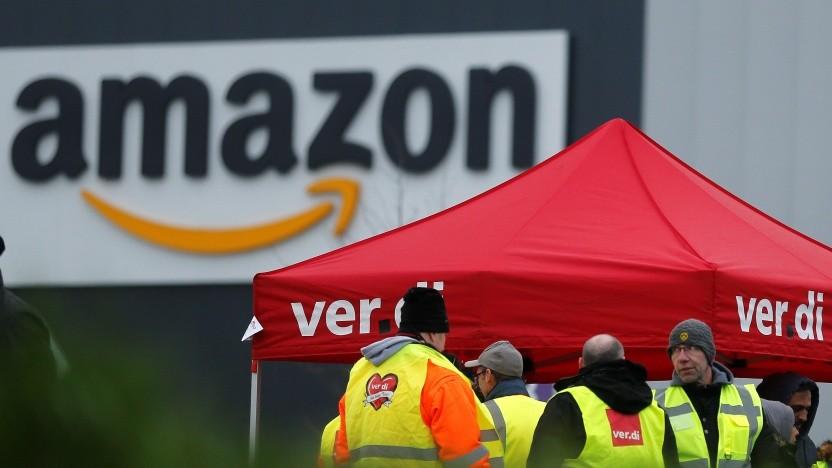 Streik wegen Corona: Arbeitsniederlegungen bei Amazon an mehreren Standorten